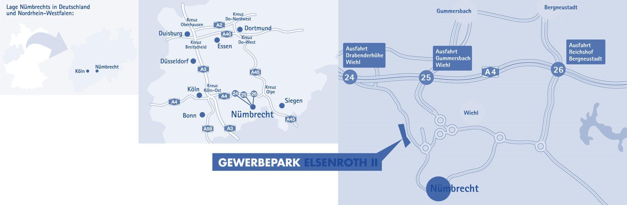 Lage und Anfahrt des Gewerbeparks Elsenroth